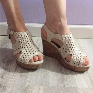 Crochet wedge heel